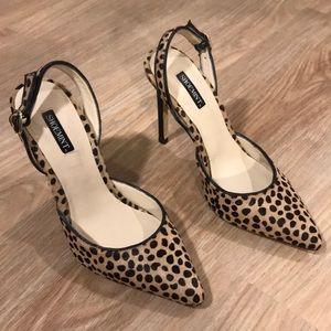 Shoemint animal print slingback pointed heels